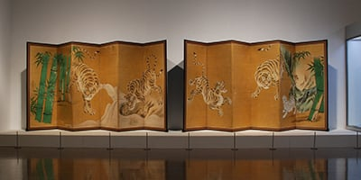 群馬県立近代美術館《狩野探幽3兄弟展》会場・サイン 2015